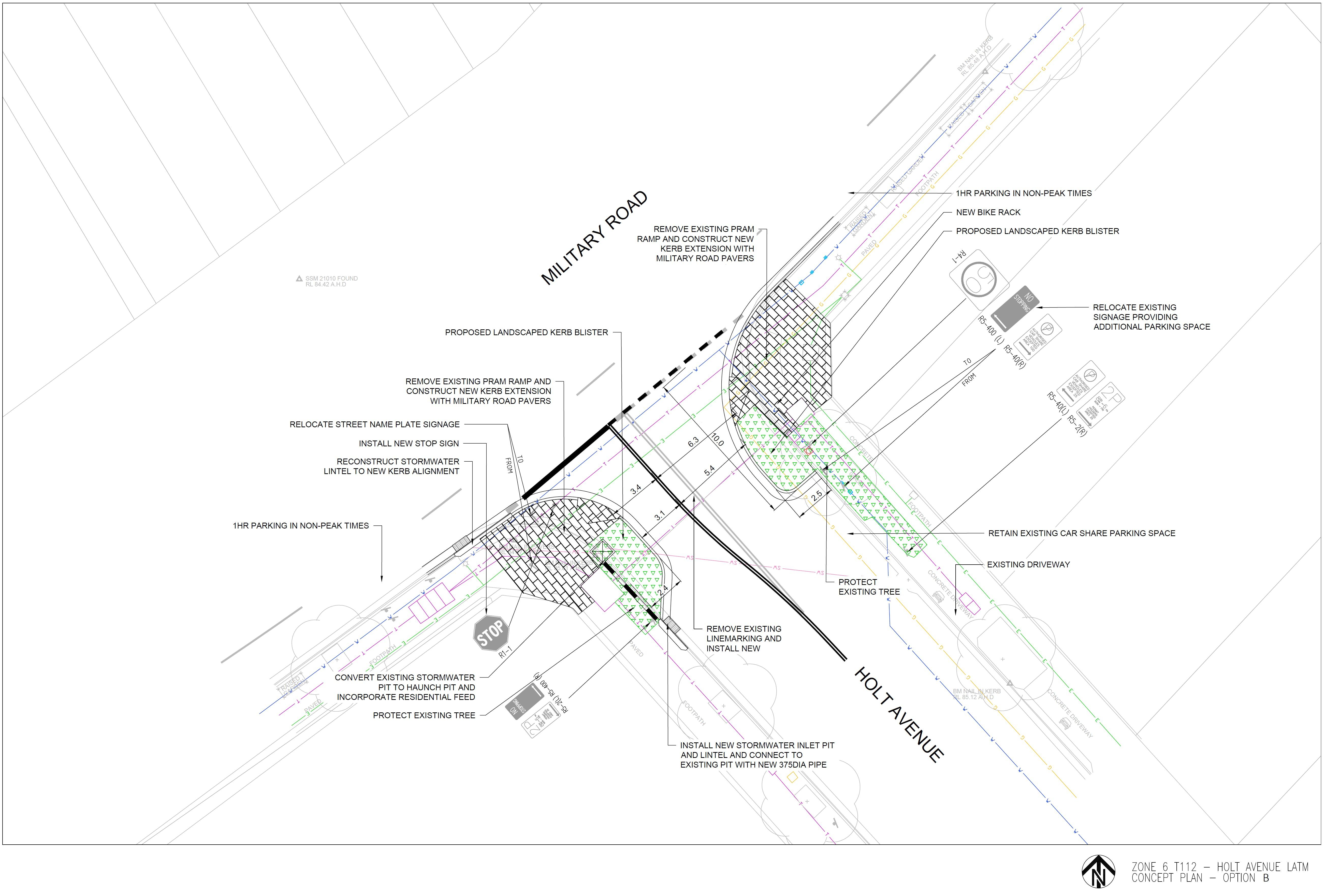 Holt Ave Option B - 2D Design