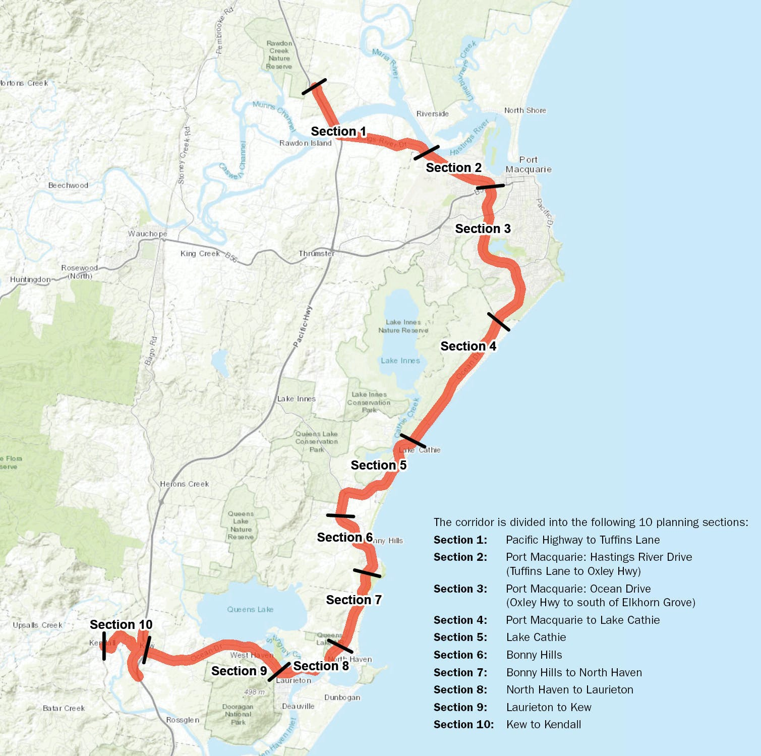 Road Corridor Strategy section