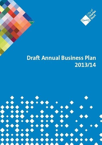 Draft Annual Business Plan 2013 2014