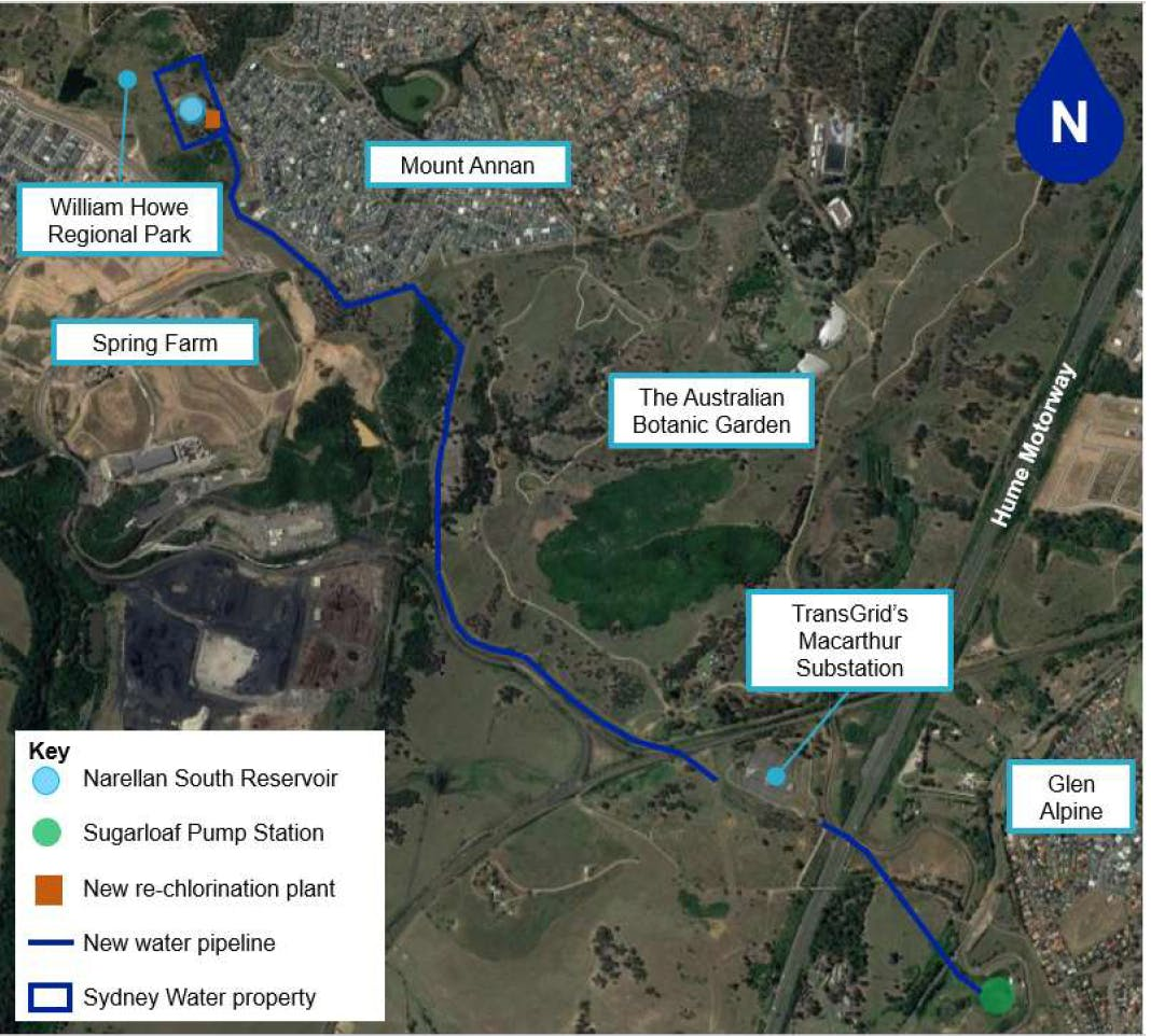 Mount Annan - pipeline alignment