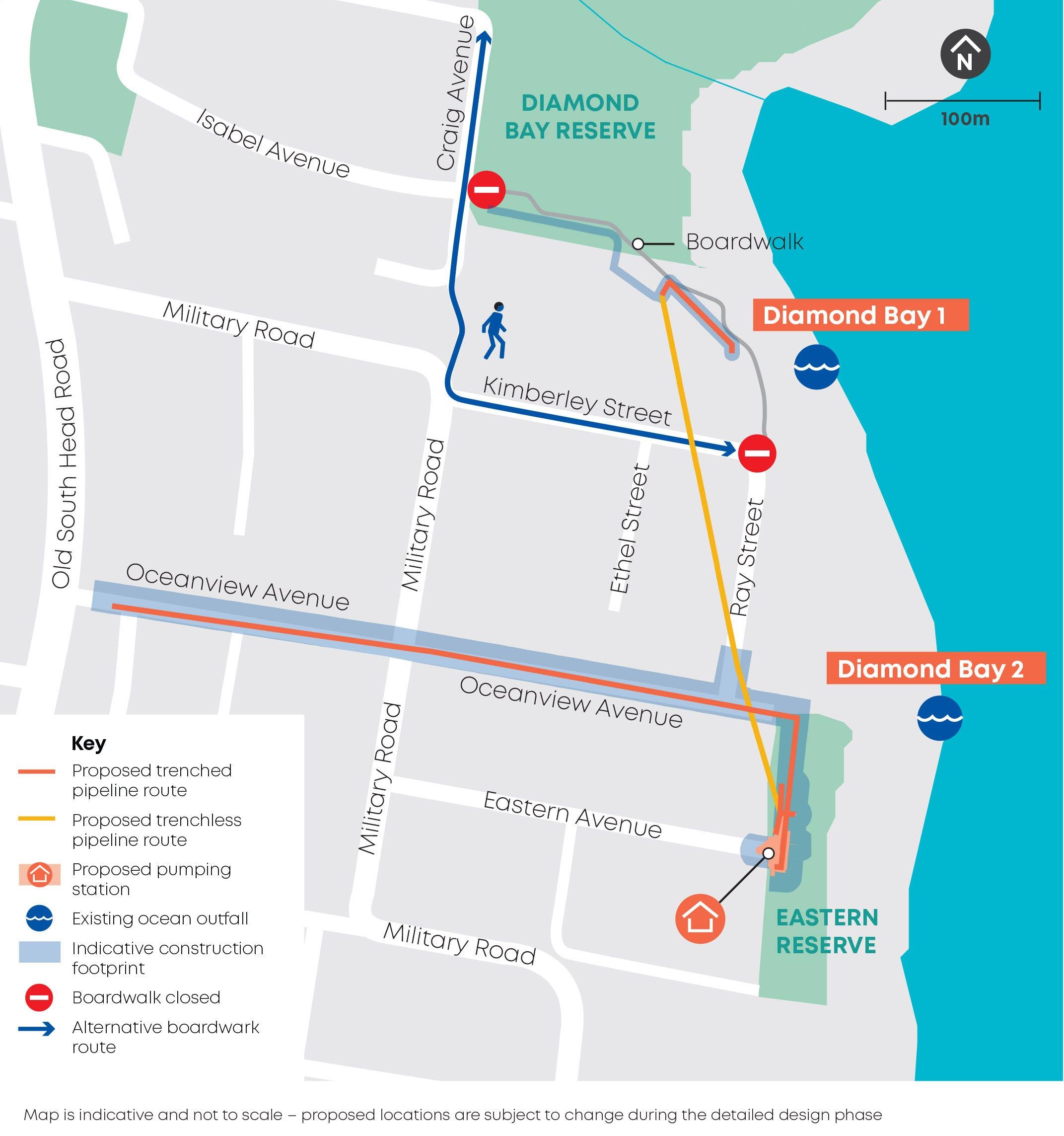 Refresh VDB REF - Work at Diamond Bay Map - June 2020