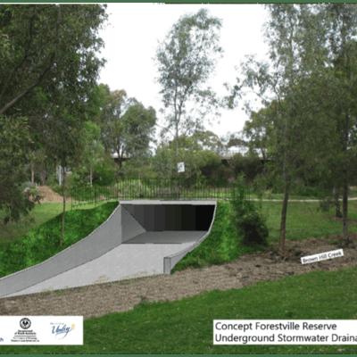 Concept Forestville Reserve:   Drainage Outlet