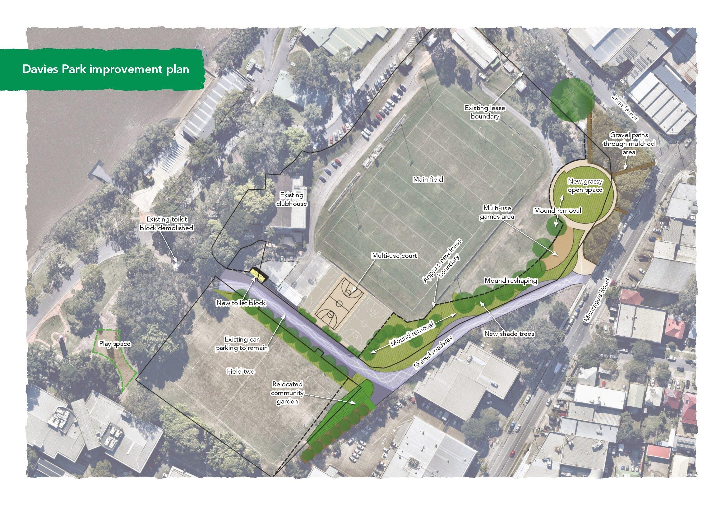 Davies Park improvement plan