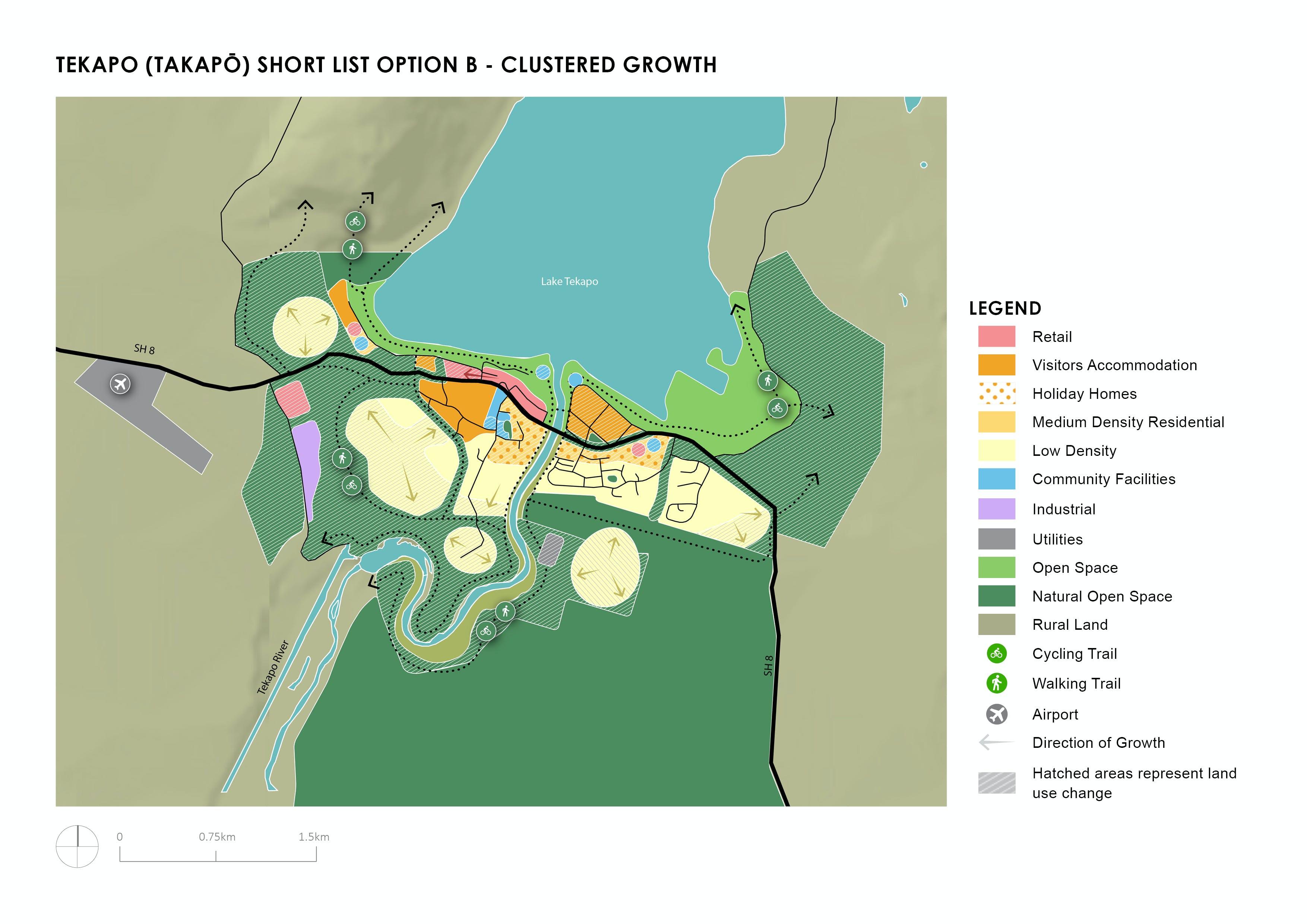 Tekapo Shortlist Option B - Clustered Growth