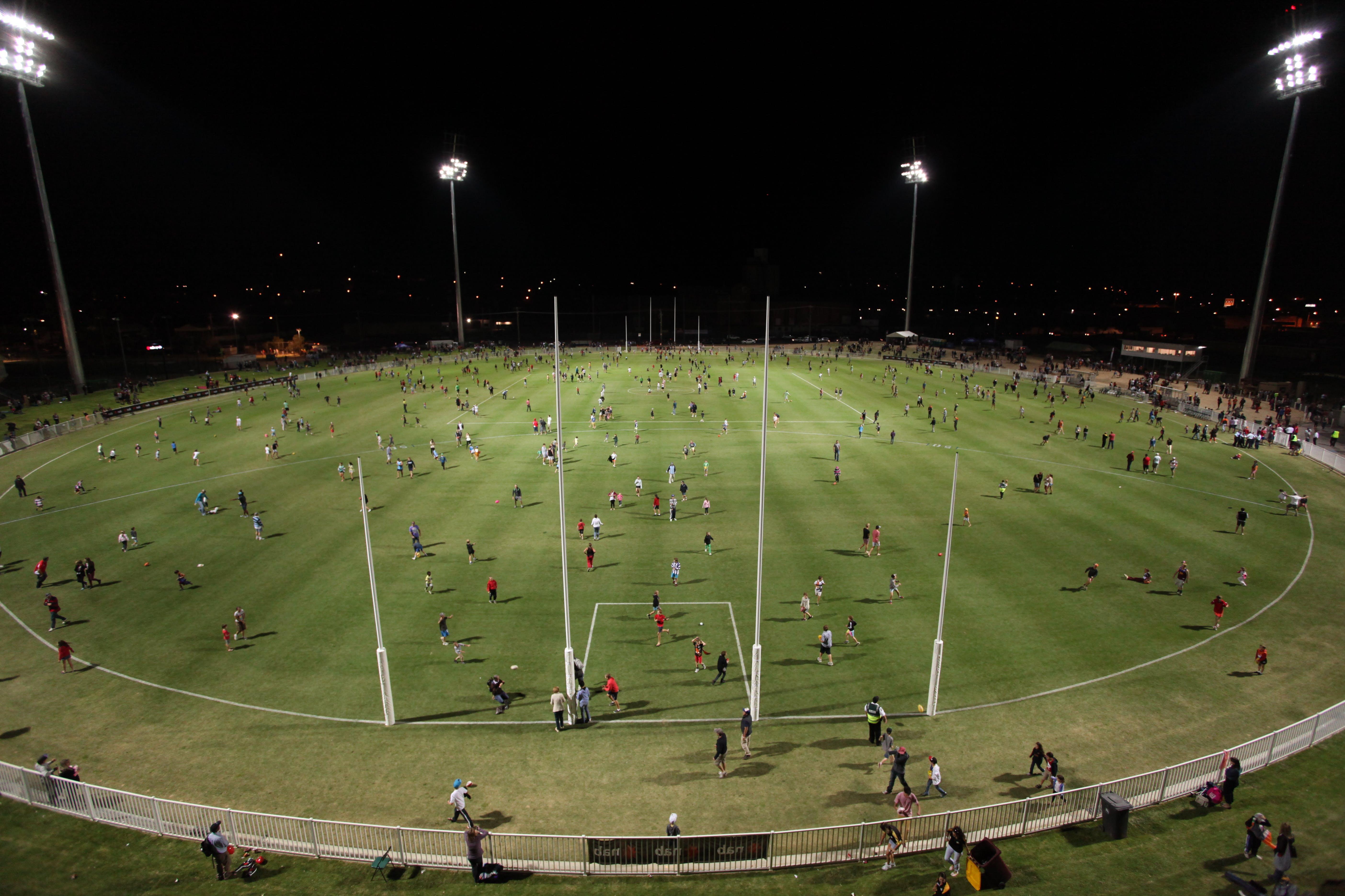 Robertson Oval at night