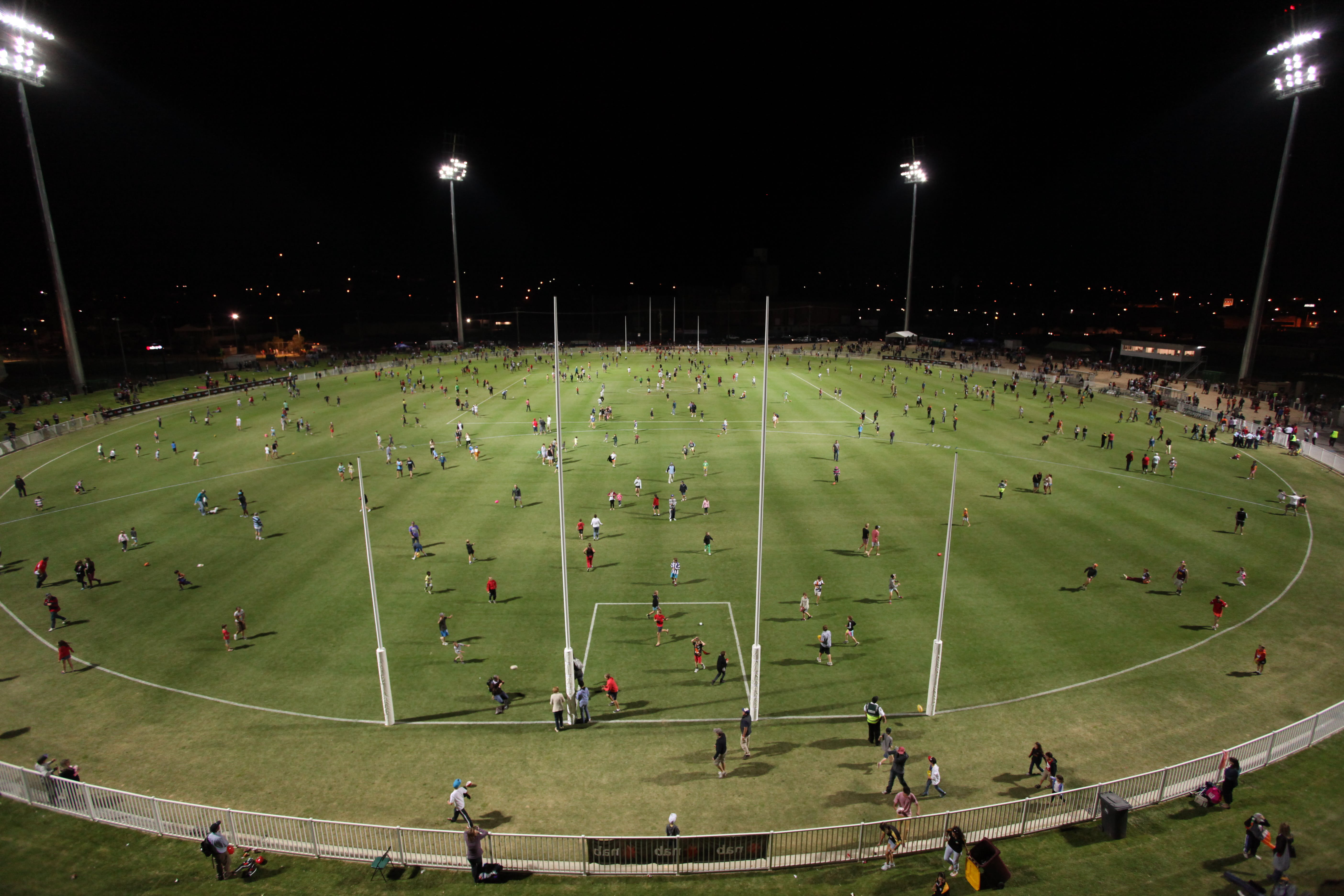 Robertson Oval at night