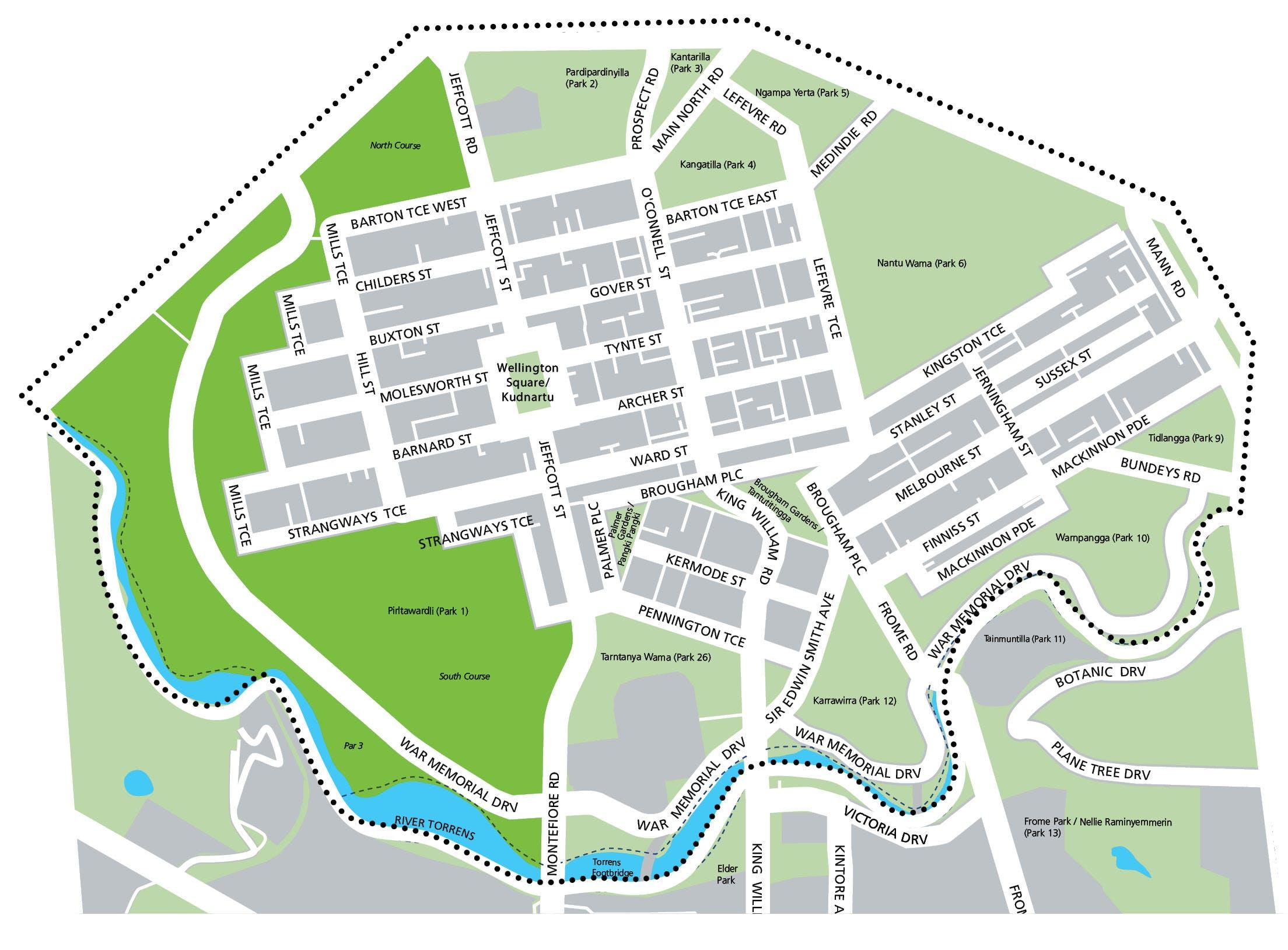Pirltawardli /Park 1 Map