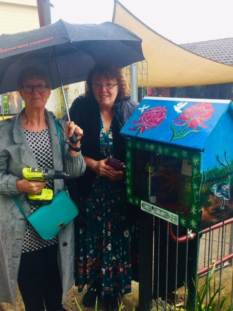 Sherlie Lewis and Karen Stevenson from the Women's Shed