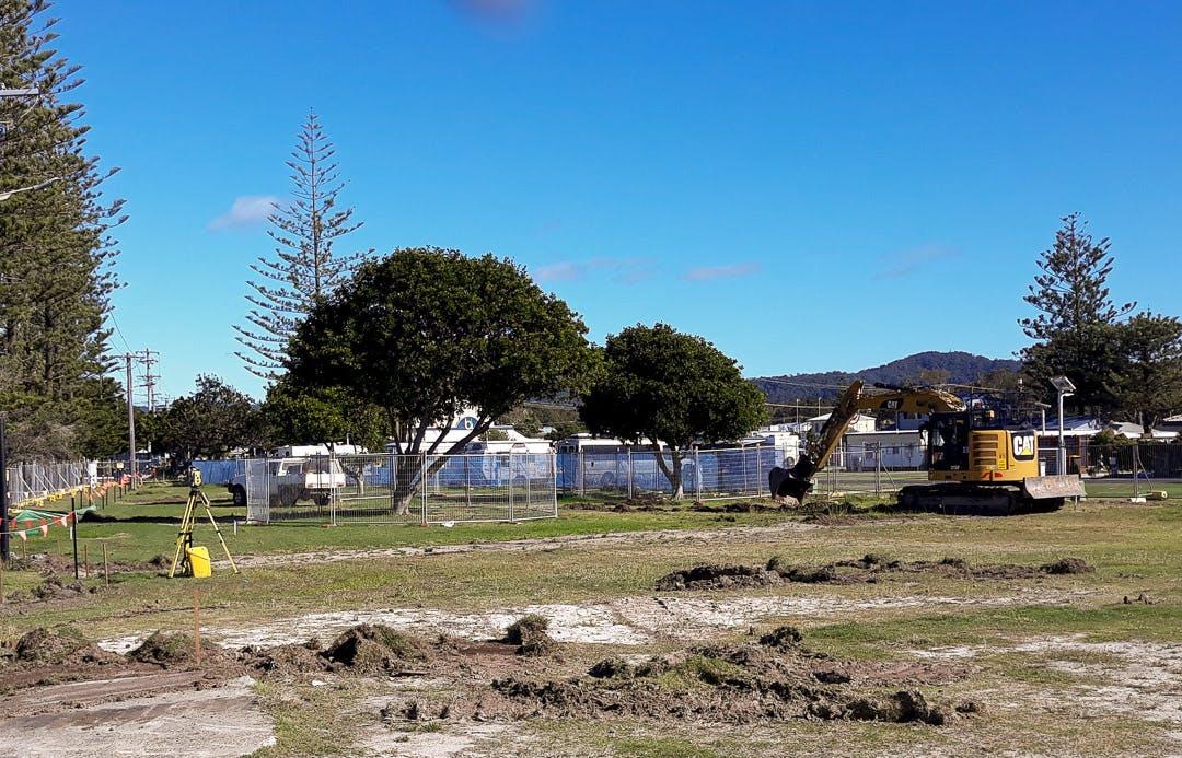 Civil works for Stage 1 started at Woolgoolga Reserve on July 15.