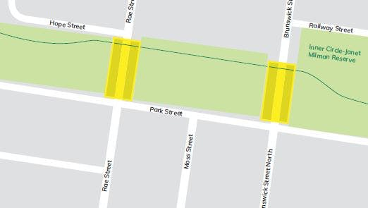 Sections of the Capital City Trail, at Rae Street and Brunswick Street North