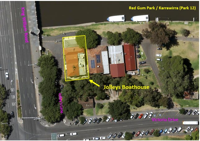 Location Of Jolleys Boathouse