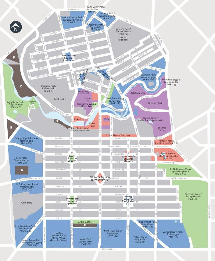 City of Adelaide Park Lands Event Sites