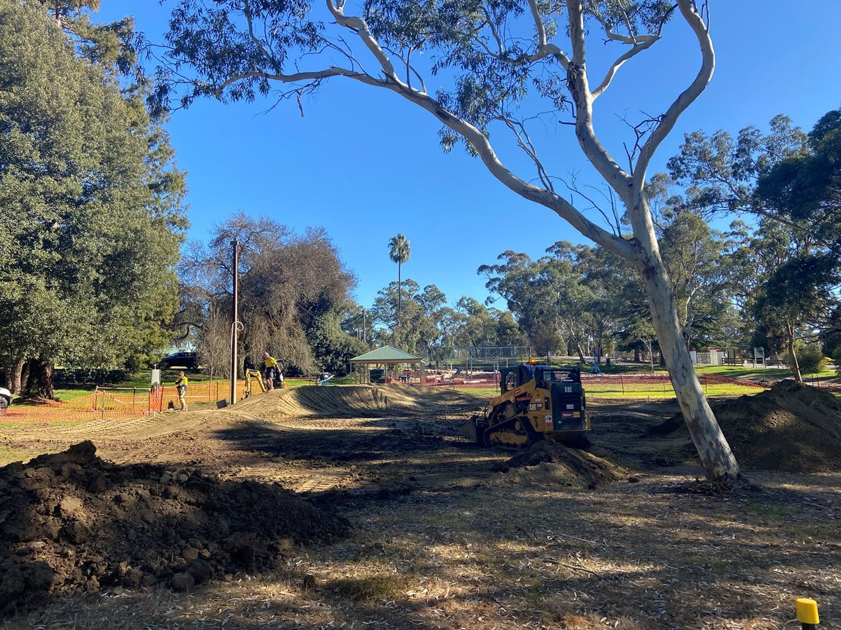 Brirdwood Pump Track Construction
