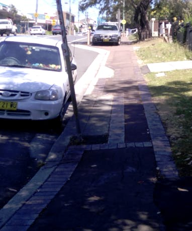 Rollover kerb to be removed
