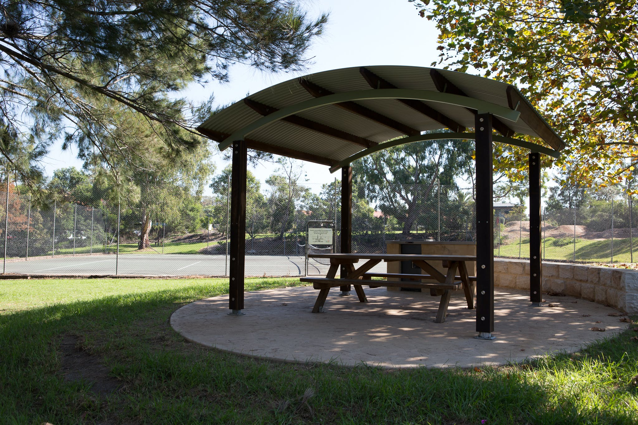 BBQ shelter and courts at Bonds Corner