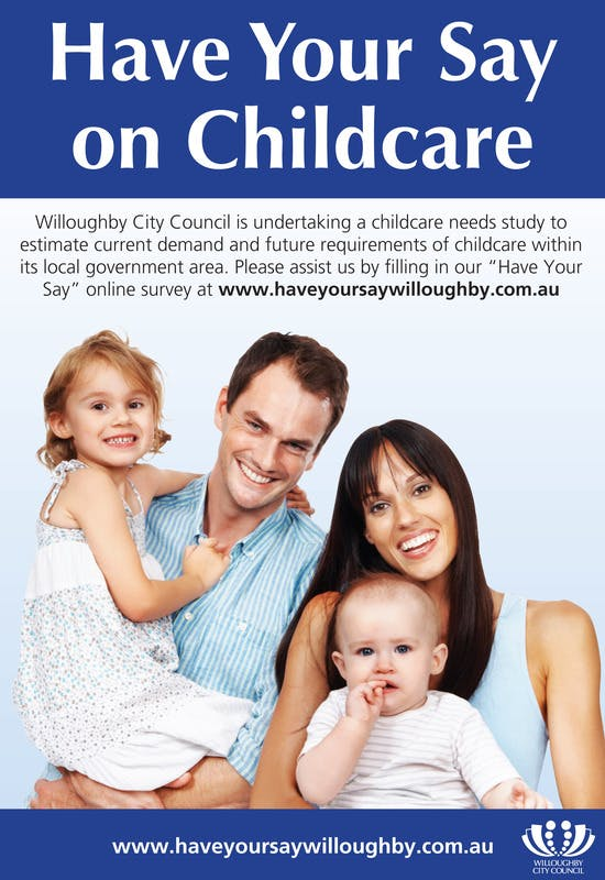 Have Your Say Childcare Poster