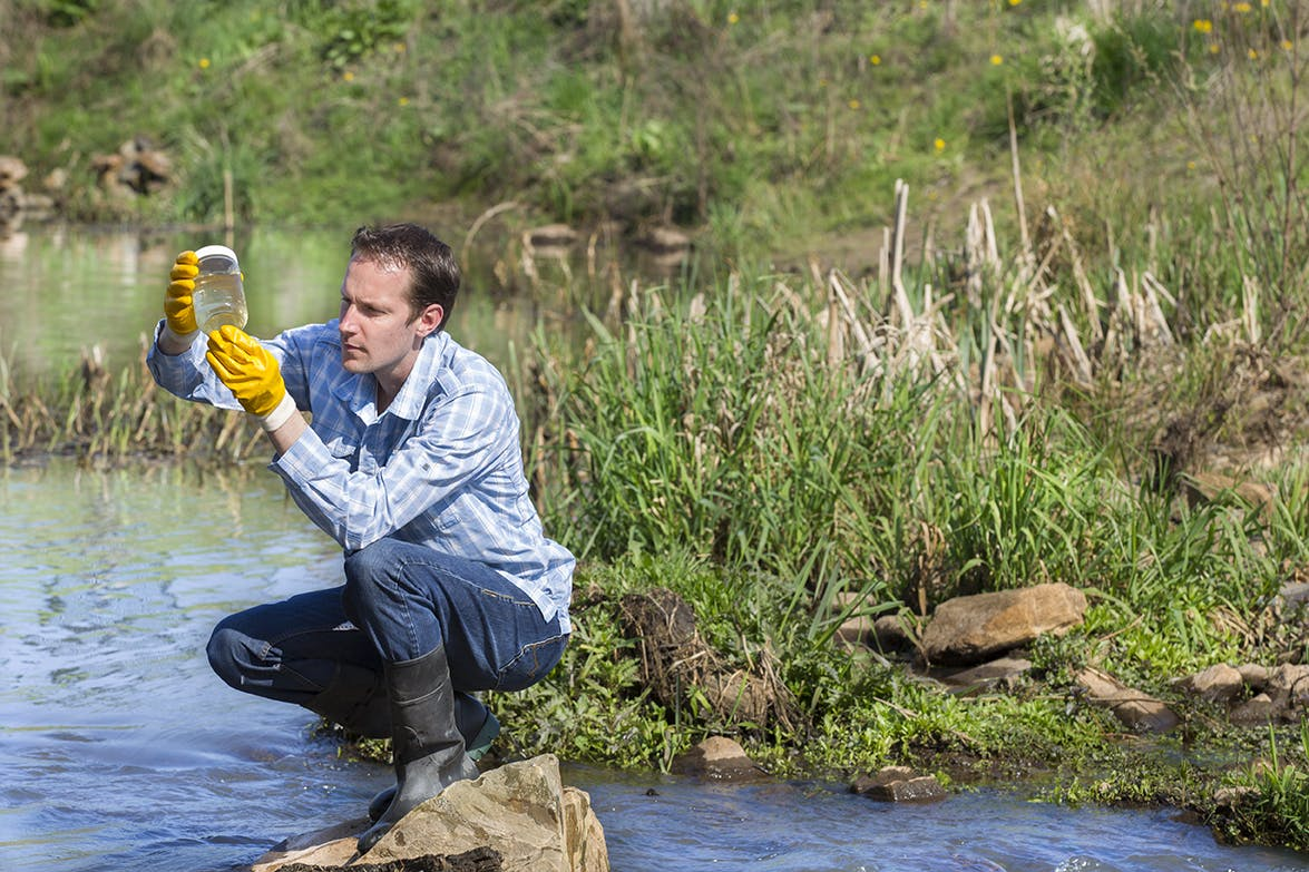 Image of man undertaking environmental assessment