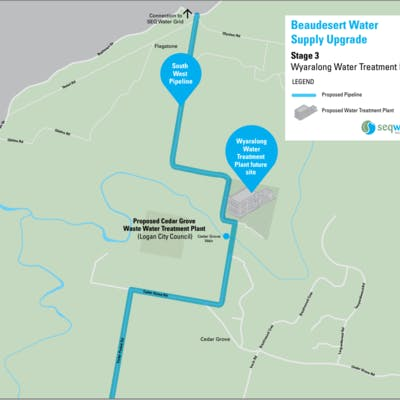 Stage 3 Wyaralong Water Treatment Plant - Map