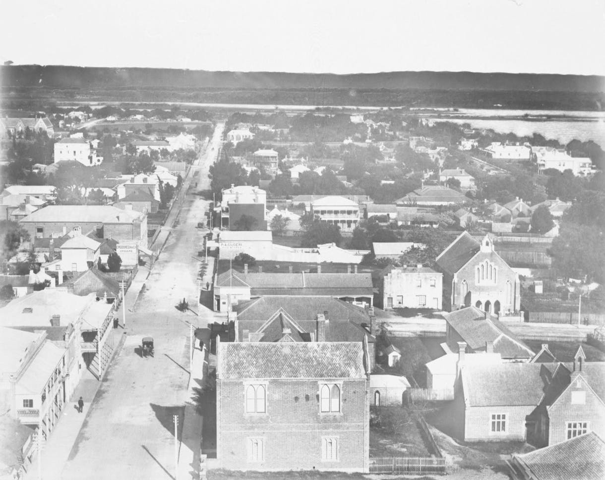 Hay Street East from Town Hall Tower - 1880's