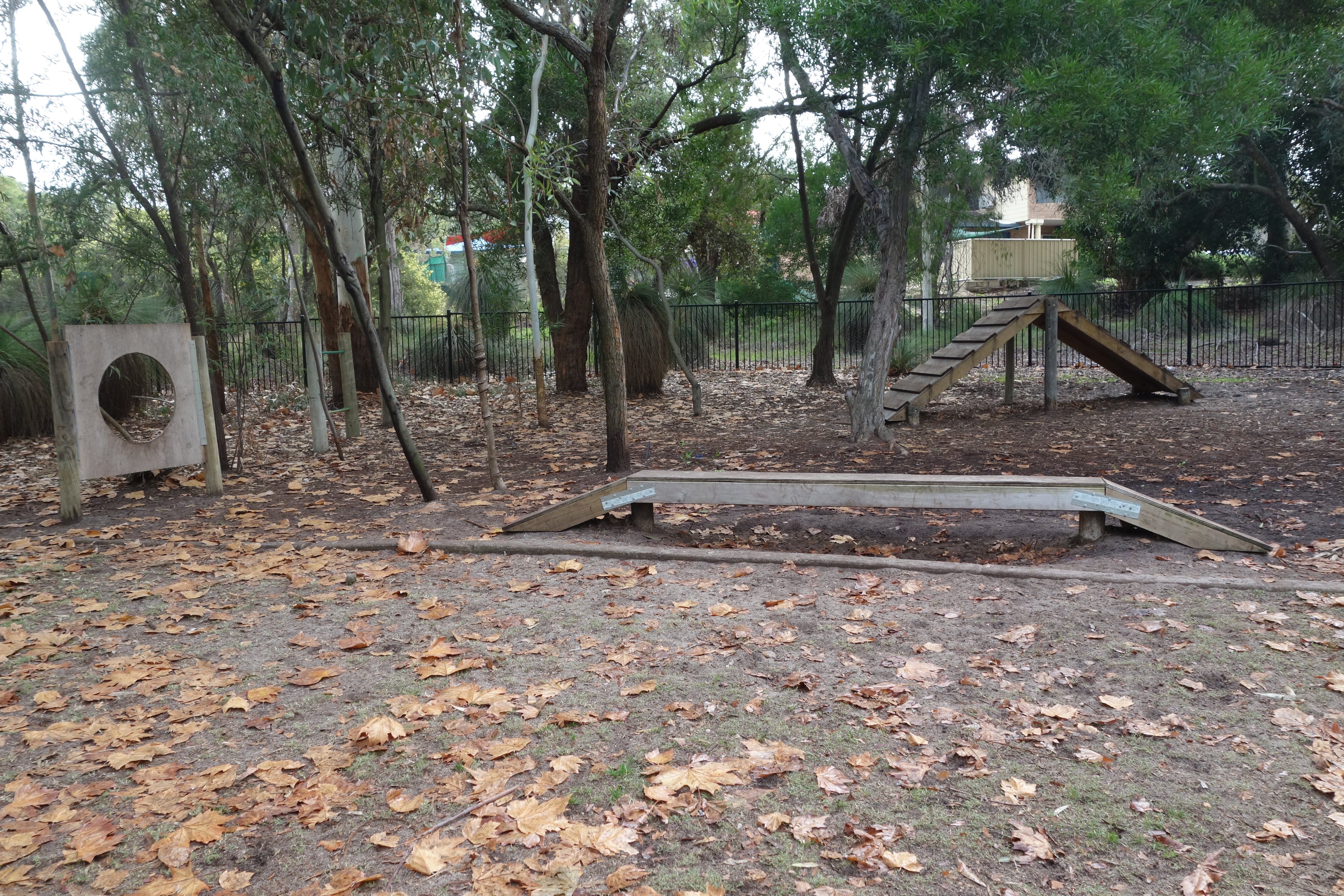 Example of Agility 'dog obstacle course' equipment