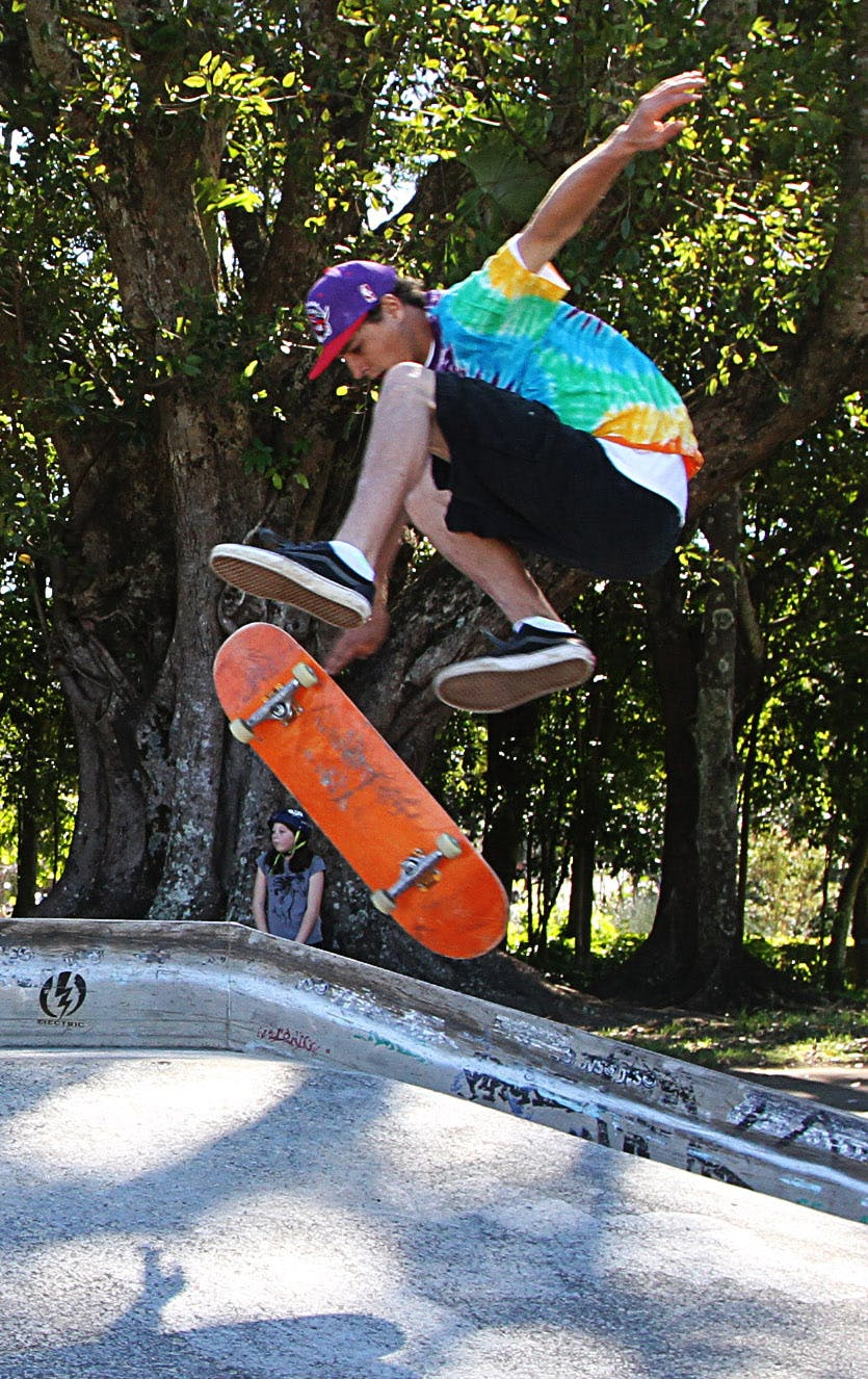 Murwillumbah skater Campbell Green at the youth precinct planning open day.
