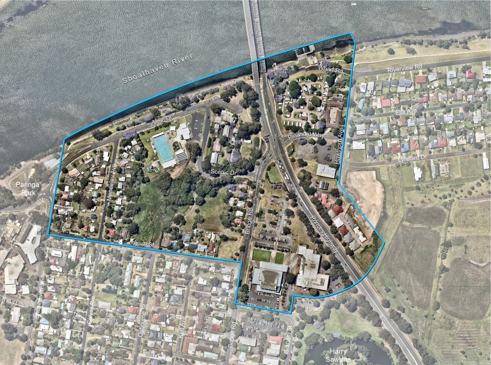 Nowra Riverfront Entertainment and Leisure Precinct Map