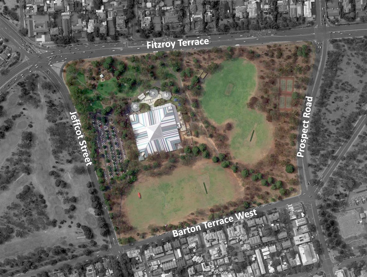 Aerial view of Denise Norton Park/ Pardipardinyilla (Park 2)