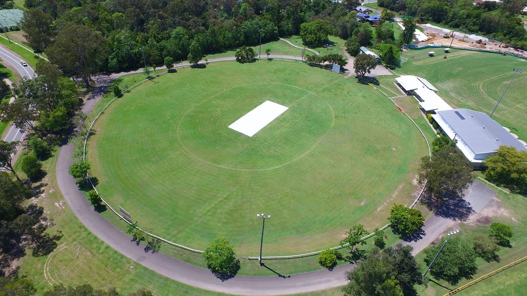 An aerial of the Cooroy Sports Complex