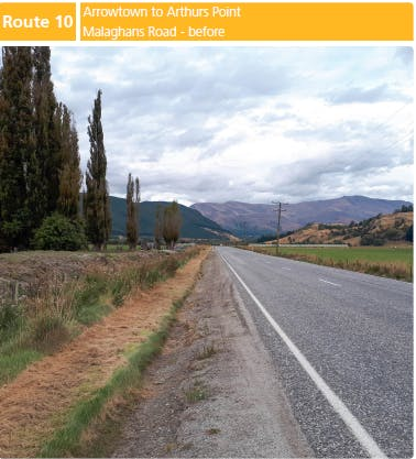Route 10:  Arrowtown to Arthur's Point (Malaghans Road) - BEFORE
