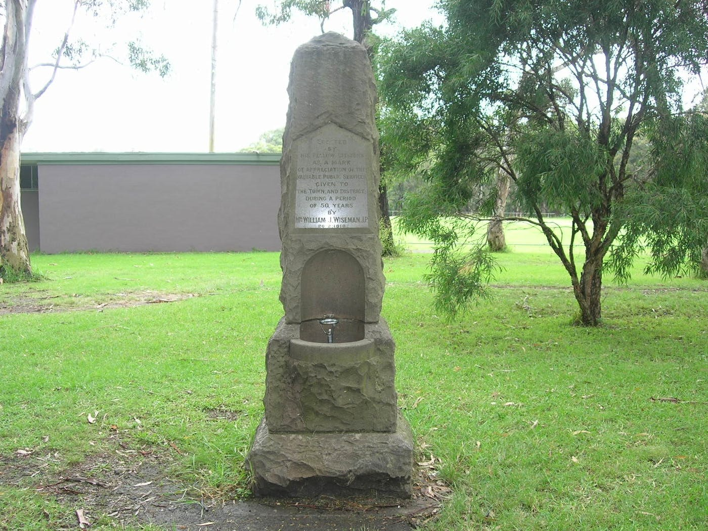 William Wiseman Memorial in its current location