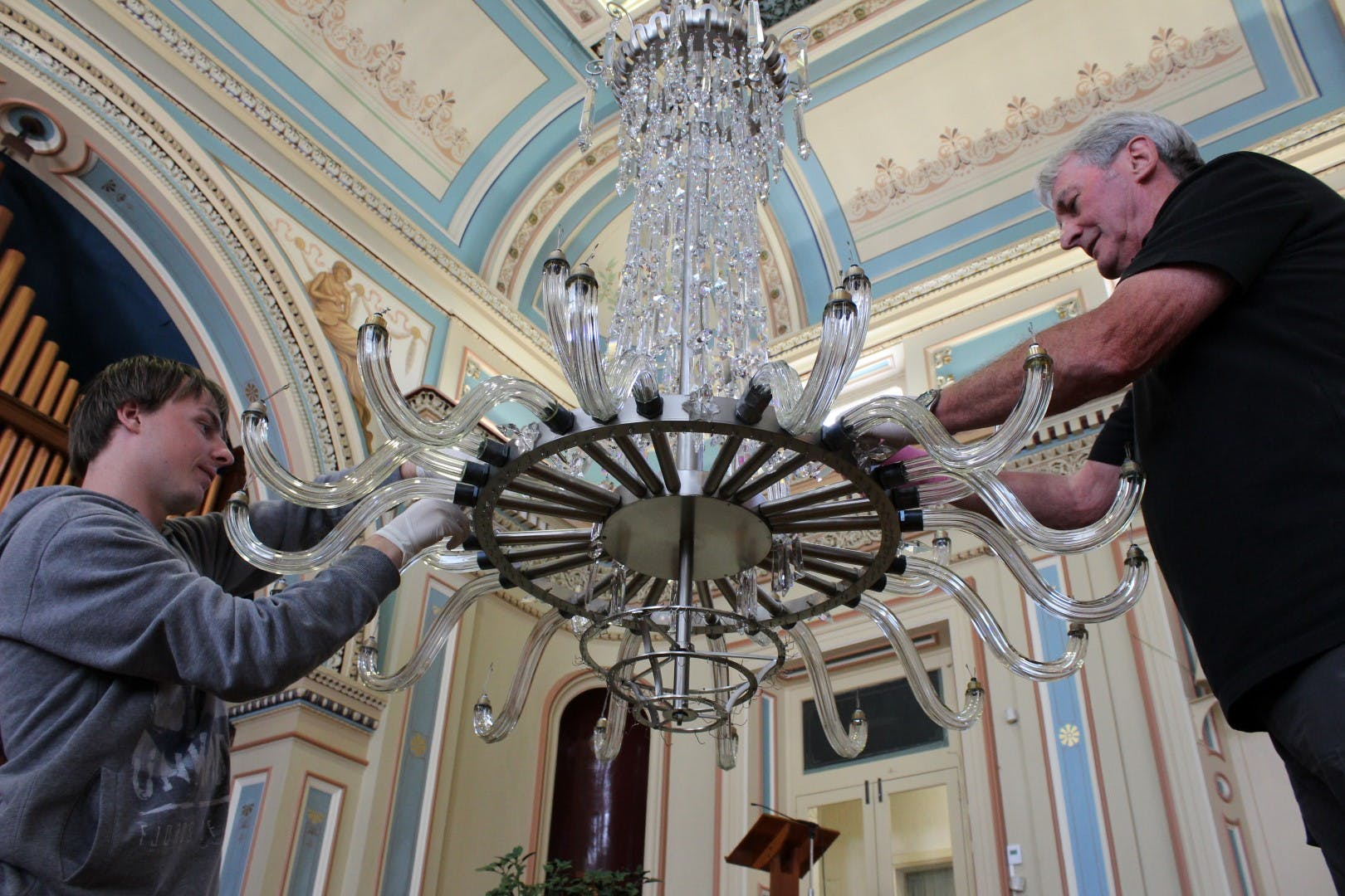 Town Hall Chandeliers