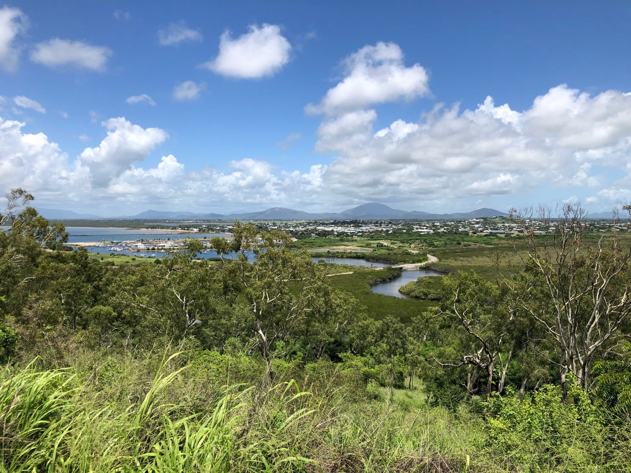 Flagstaff Hill - view of Bowen town.jpg