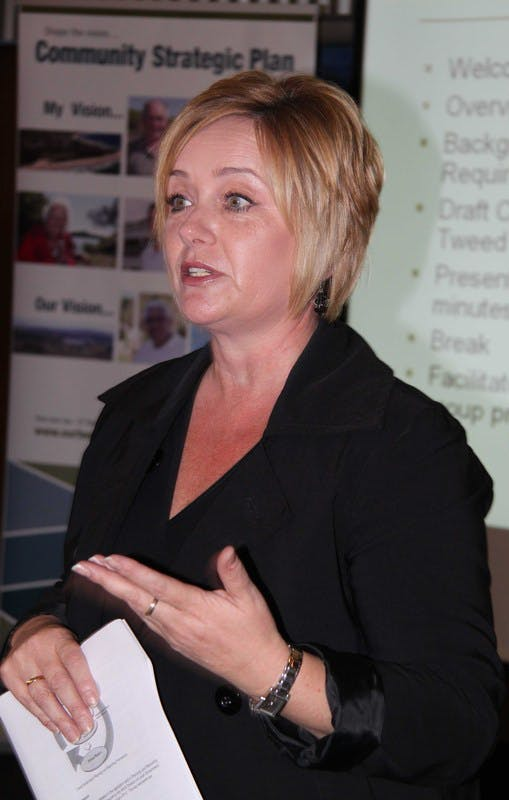 Melissa Gibbs, from the Australian Centre for Excellence in Local Government, at the Murwillumbah roundtable.