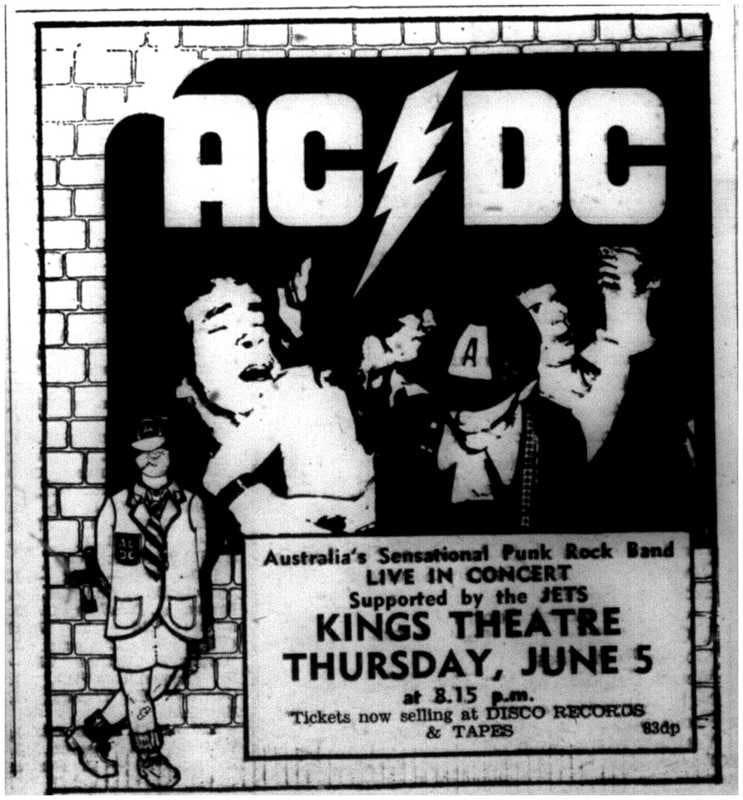 ACDC rock the King's Theatre in 1975