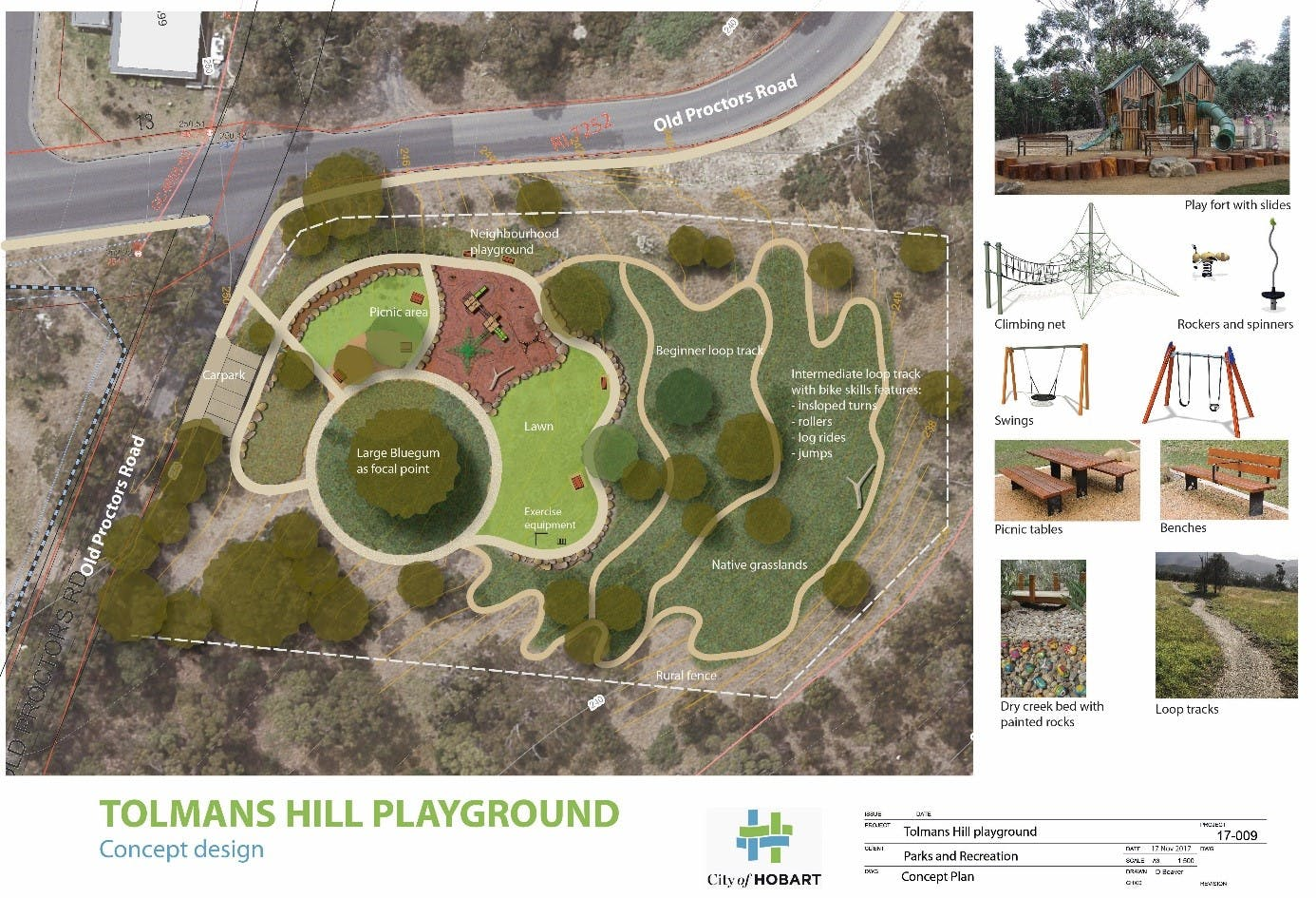 Upgraded design for Tolmans Hill Playground