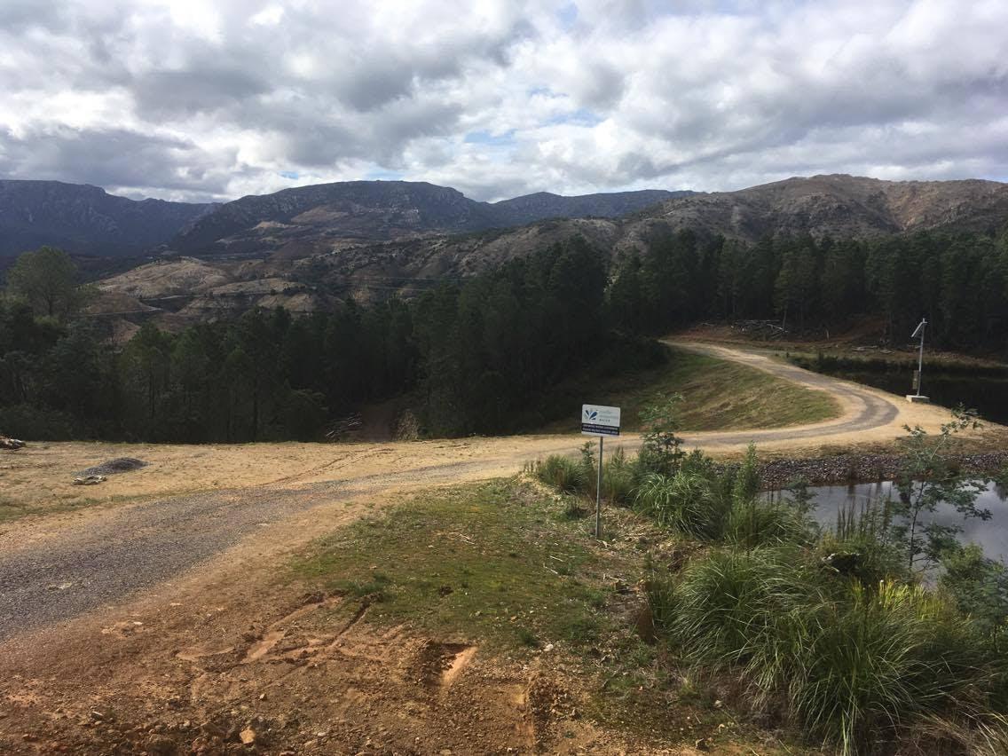 Conglomerate Dam Wall