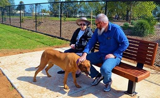 Reserve Street Reserve Dog Park Socialising On Bench