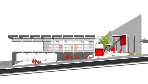 Sketch of original redesign of Katoomba Library