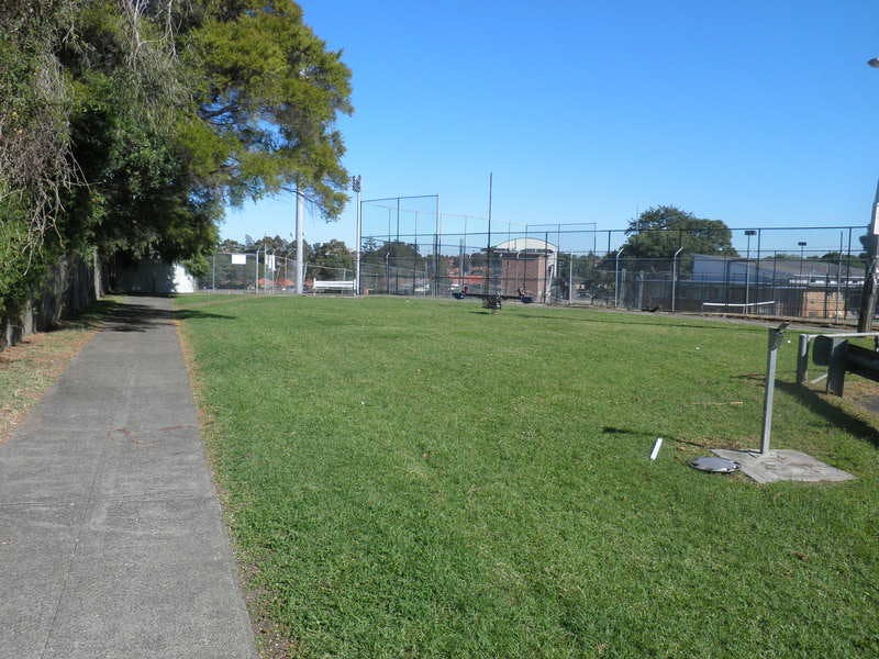 Amy Street Playground looking south