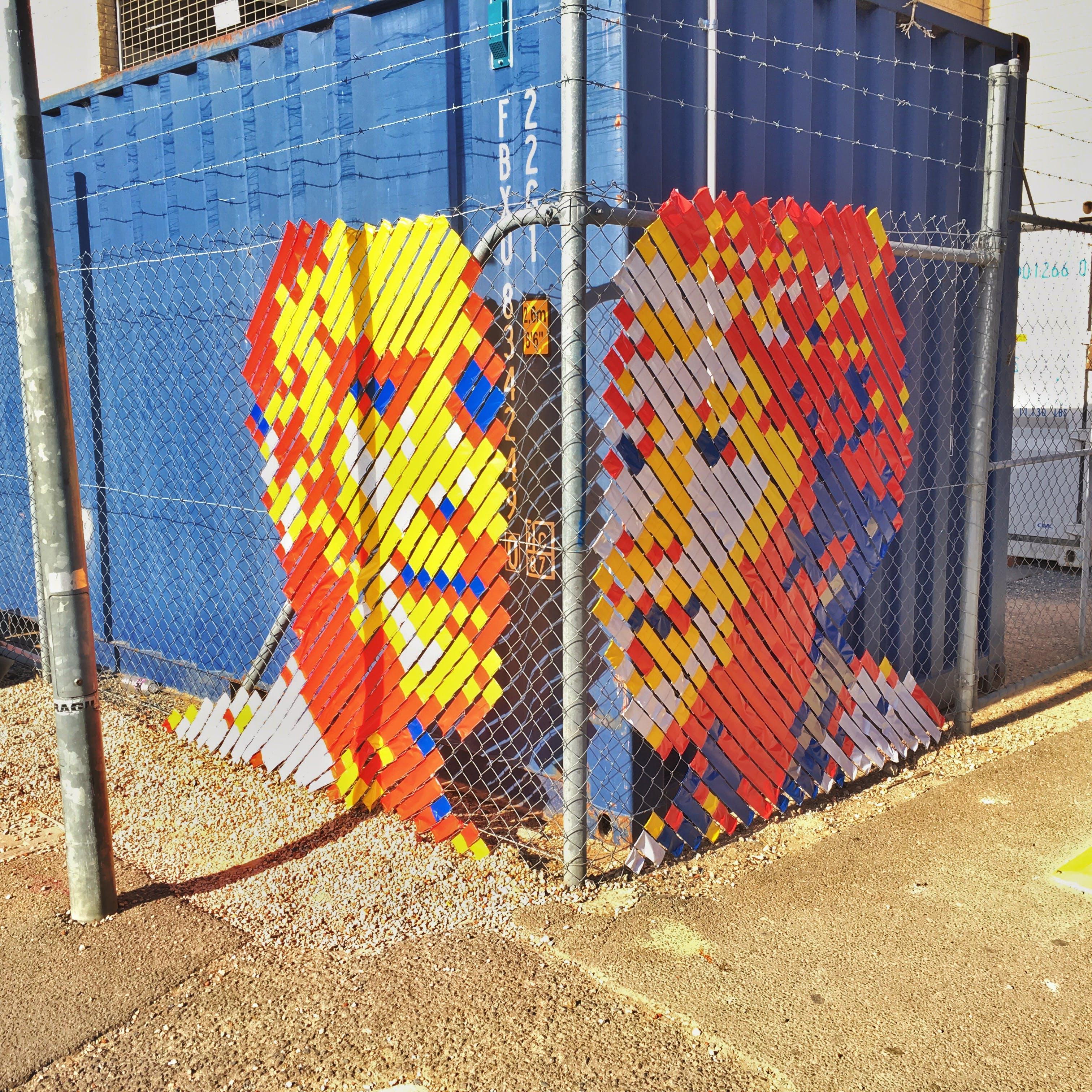 Clarendon Street Tape Art (John Denlay, 2016)