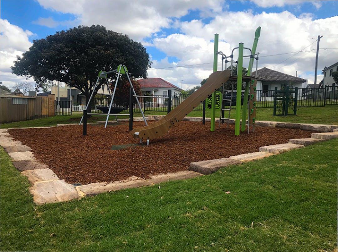 New playground at Cedric Hoffmann Reserve, Merrylands