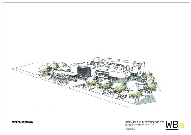 An artist's impression of the Casey Community Resource Centre