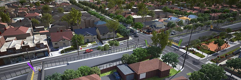 Aerial view render