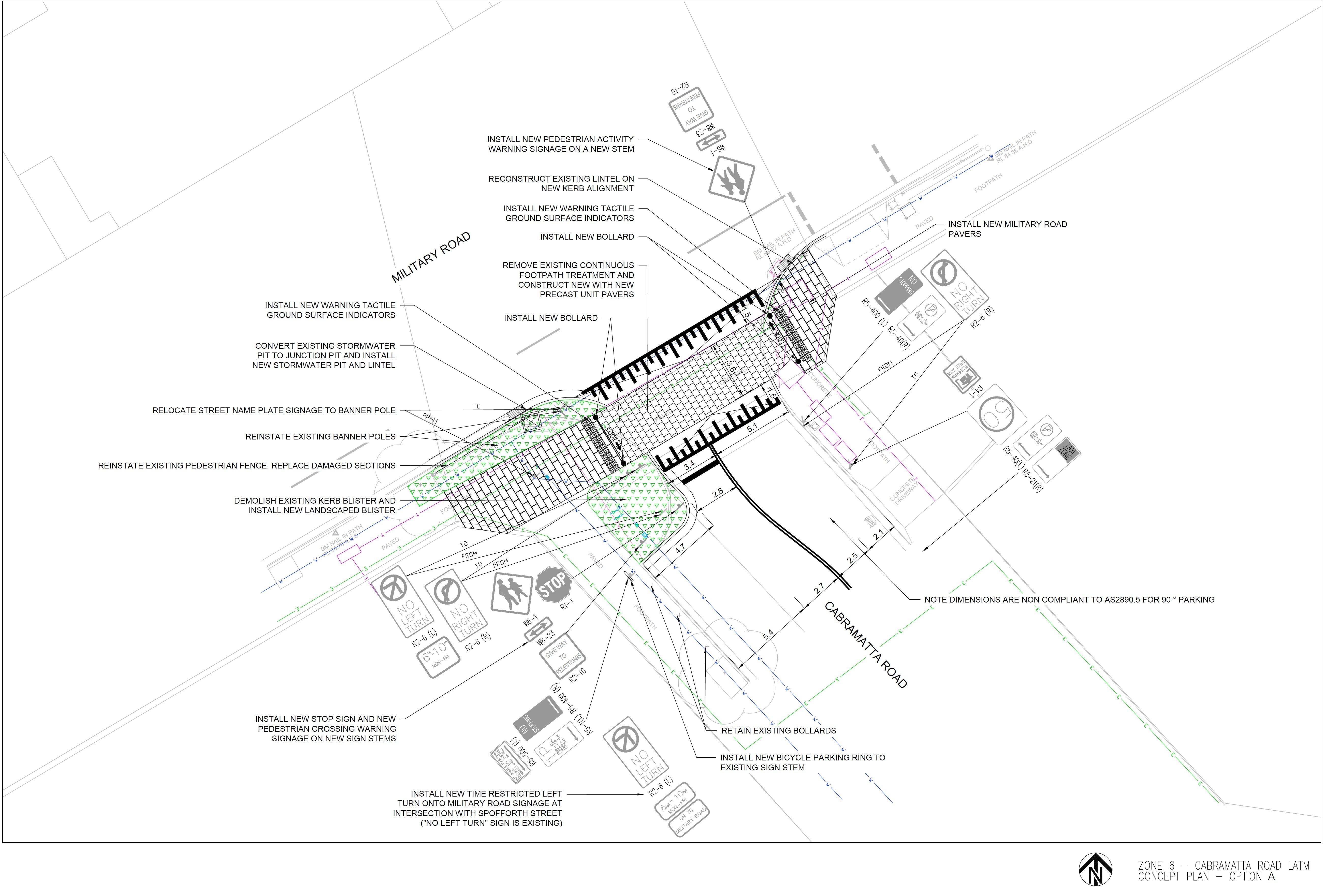 Cabramatta Road Option A - 2D Design
