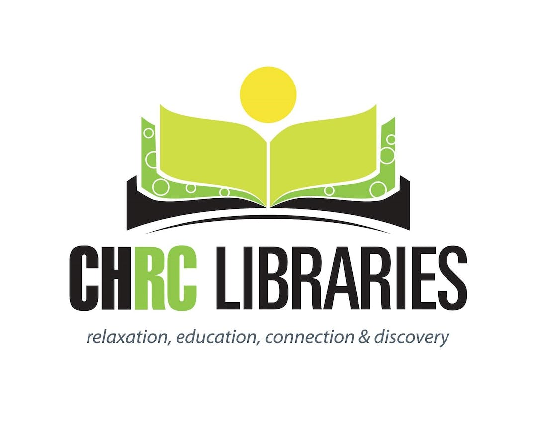 Chrc libraries logo with tag   on white background