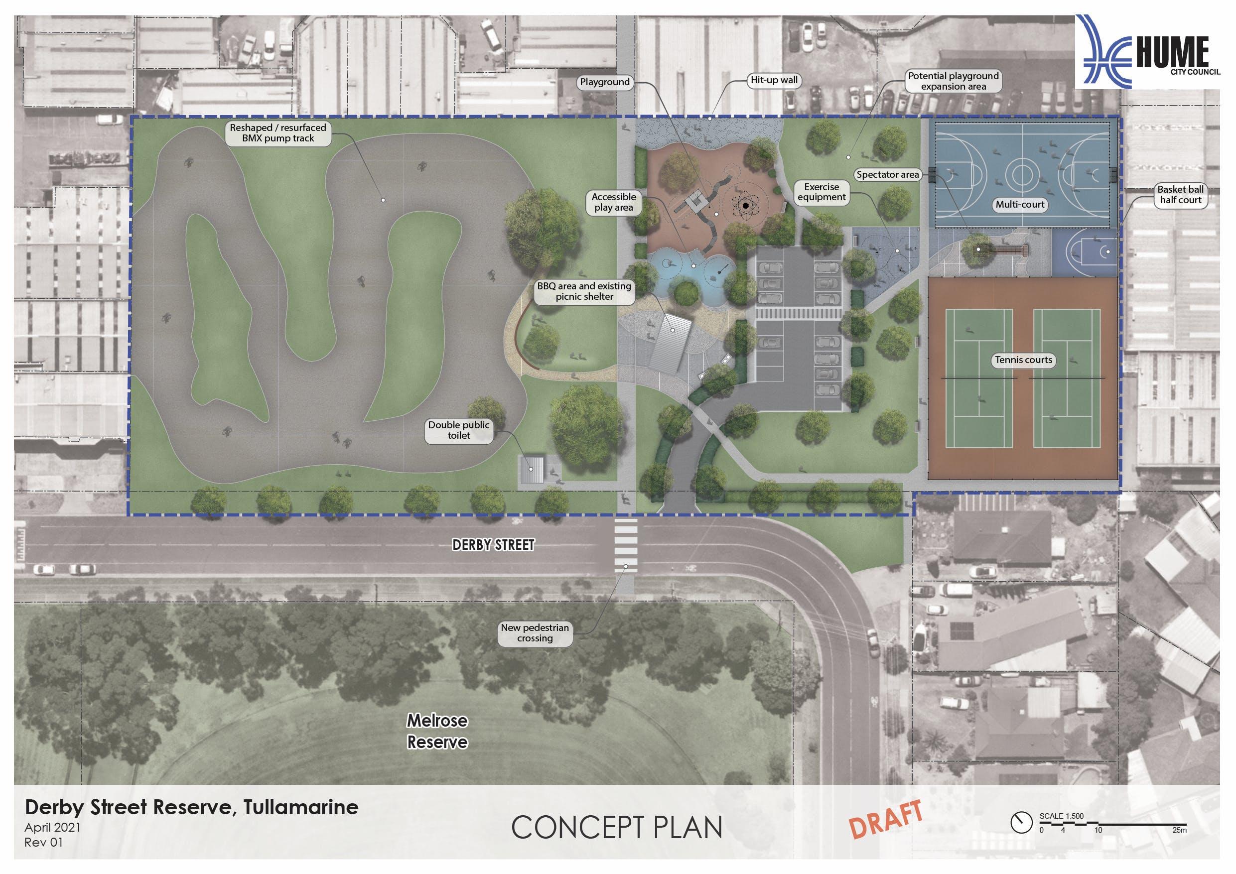 Derby Street Reserve Draft Concept