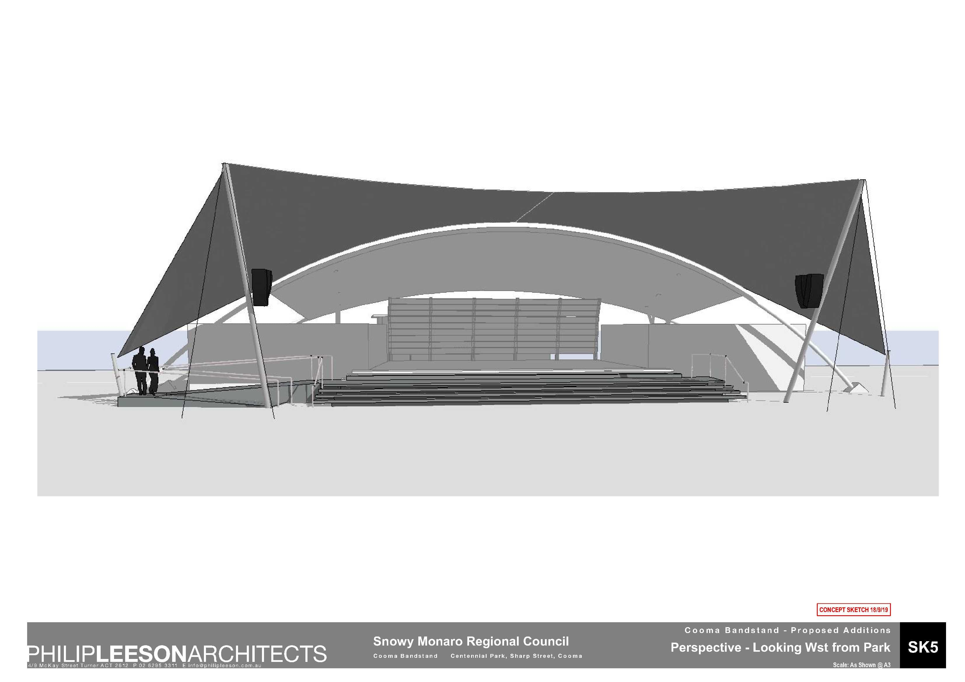Cooma Bandstand - Proposed Additions_190918 Concept Sketch_5
