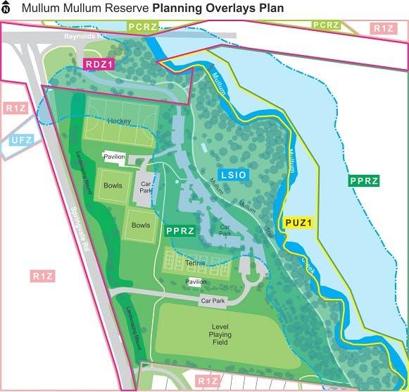 Mullum Mullum Reserve Planning Overlays Plan