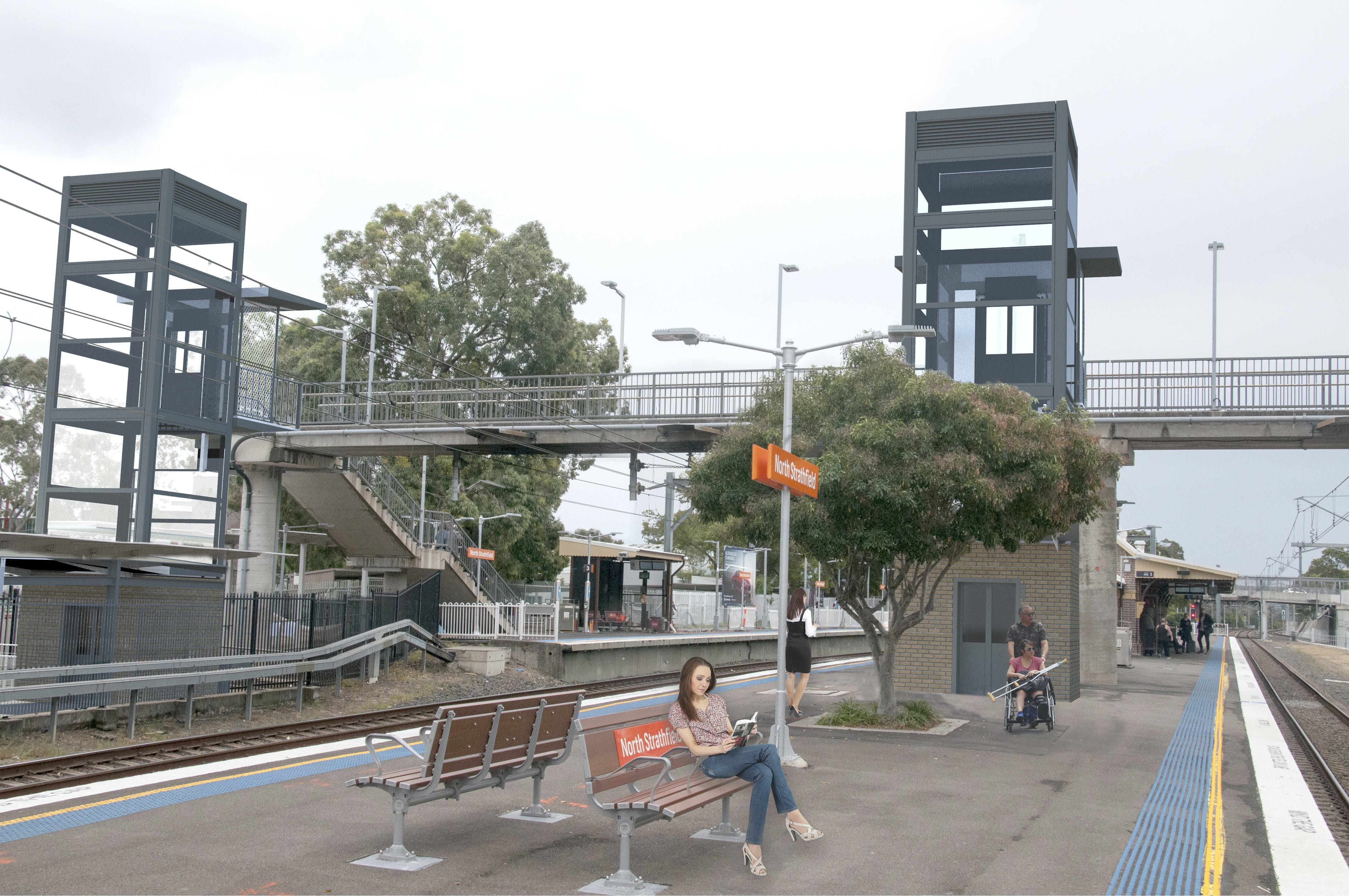Artist's impression of the North Strathfield Station Upgrade - subject to change due to detailed design