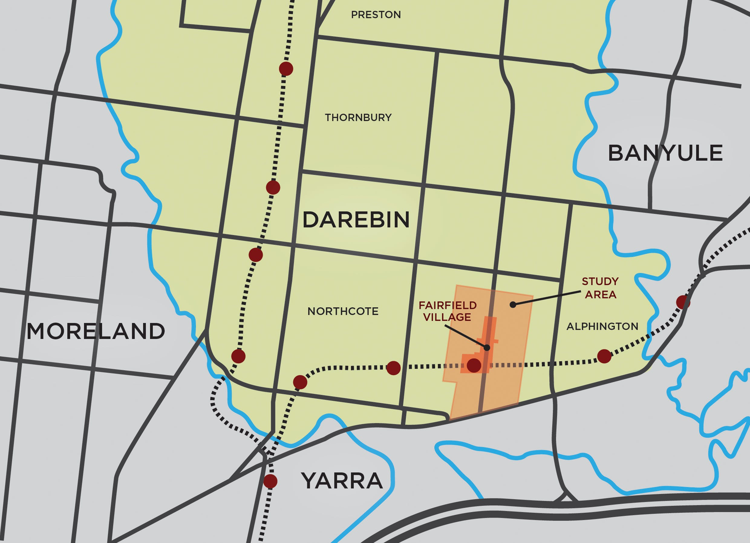 Fairfield Location Map